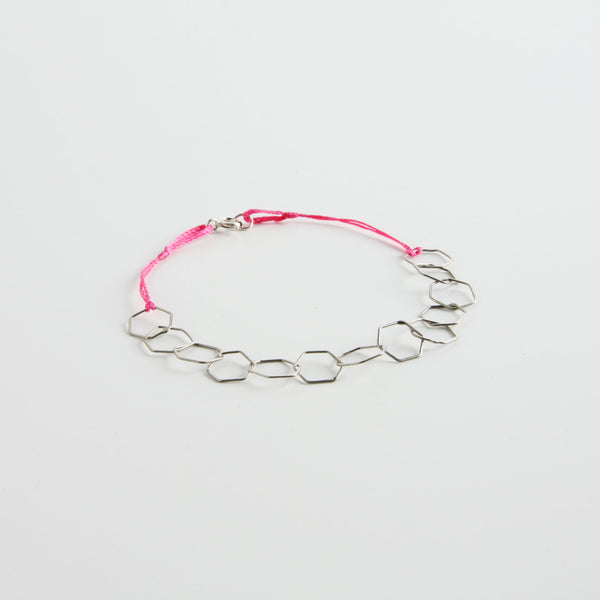 minrl hexagons light bracelet silver