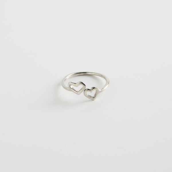 minrl my first ring 2 hearts silver