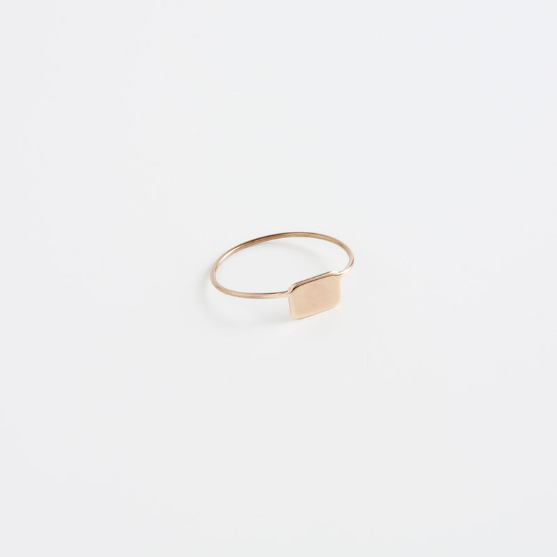 minrl shapes rings red gold rectangle full