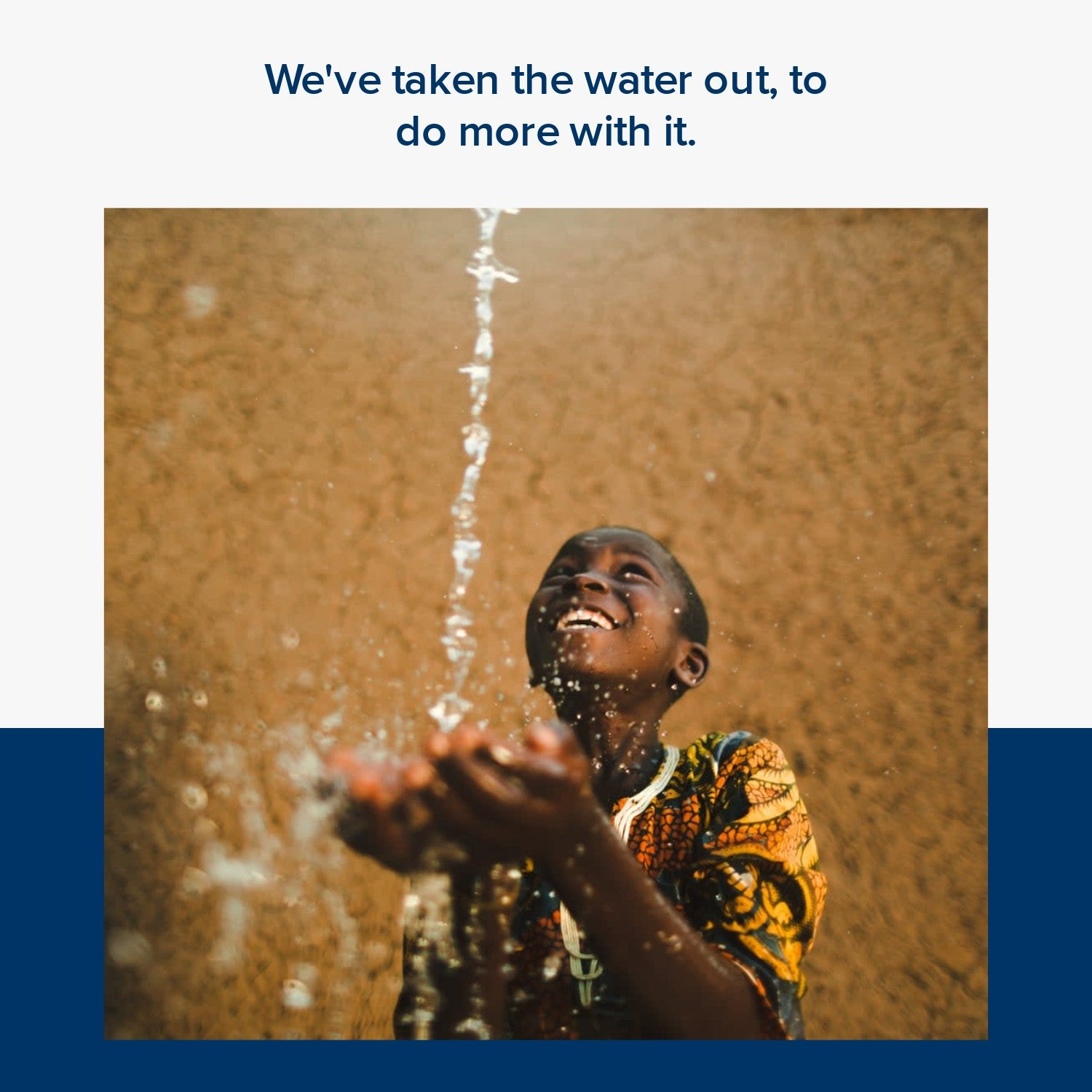 We donate 1% of our brand sales to Charity: water. Giving water access to those who need it the most. Beauty that cares. Go waterless