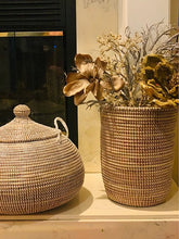 Load image into Gallery viewer, Beautiful Sweet Grass Storage Basket - Suka (2 colors)