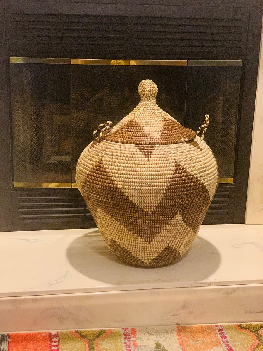 Beautiful Sweet Grass Storage Basket - Ndella