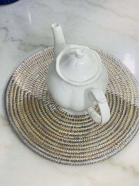 Silver and White Sweet Grass Placemat - Daga