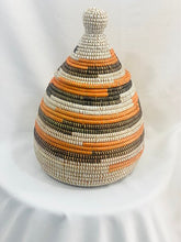 Load image into Gallery viewer, Orange Black and White Decorative Pot - Ana