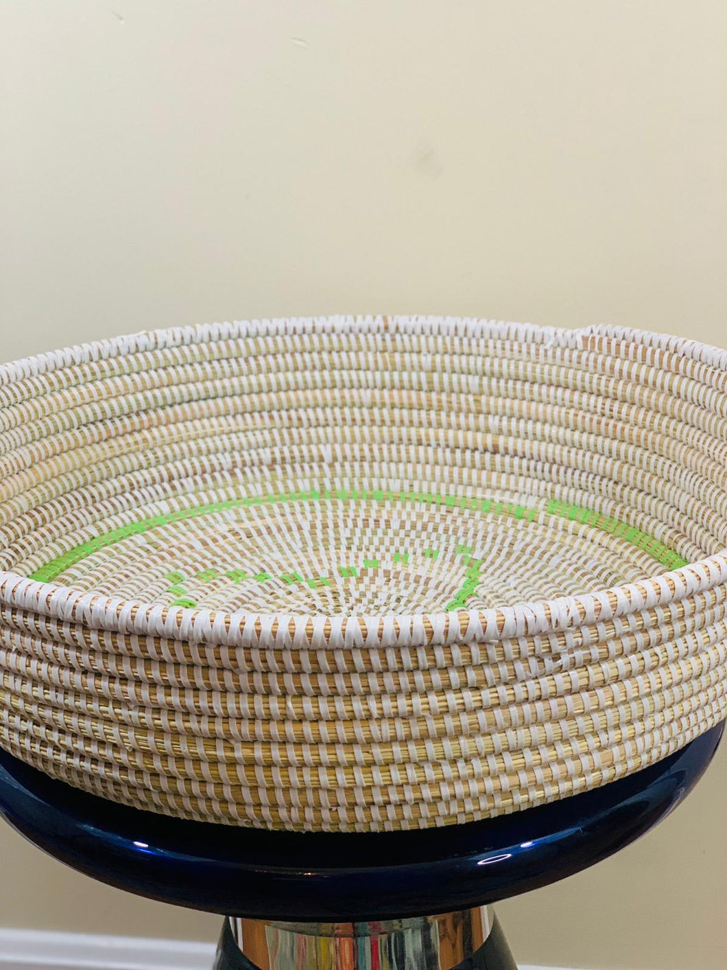 White and Green Sweet Grass Bowl - Lalla