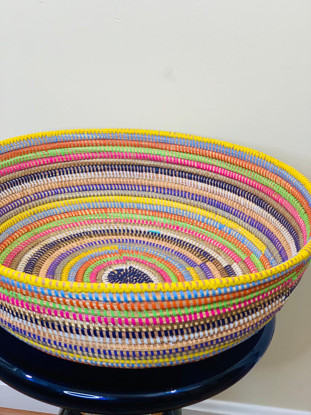Multi Colored Sweet Grass Bowl - Nafi