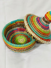 Load image into Gallery viewer, Multi Colored Oval Sweet grass Pot - Adja (2 sizes)