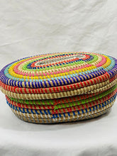 Load image into Gallery viewer, Multi Colored Oval Sweet grass Pot - 2 styles