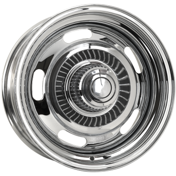 CHEV RALLYE WHEELS- CHROME PLATED