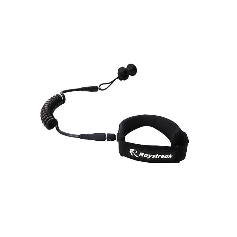 Raystreak Coiled Bodyboard Leash 4' accessories Beyoung Black