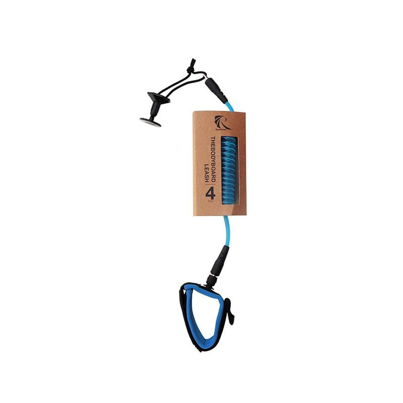 Raystreak Coiled Bodyboard Leash 4' accessories Beyoung Blue