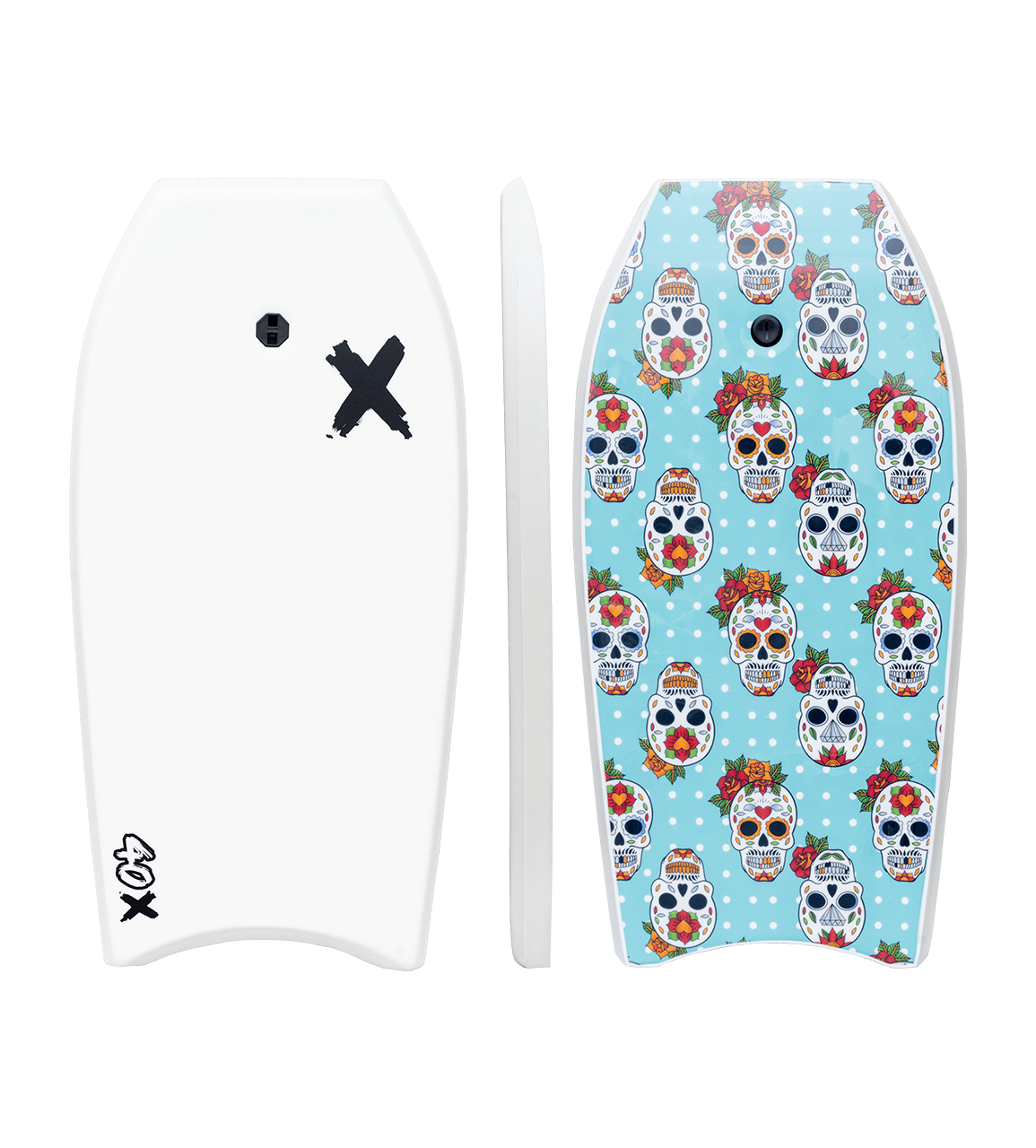 "Random X Bodyboard - White 40"" bodyboard Coastline International"
