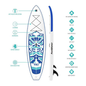 Funwater Tiki Inflatable Paddle Board SUP - Blue