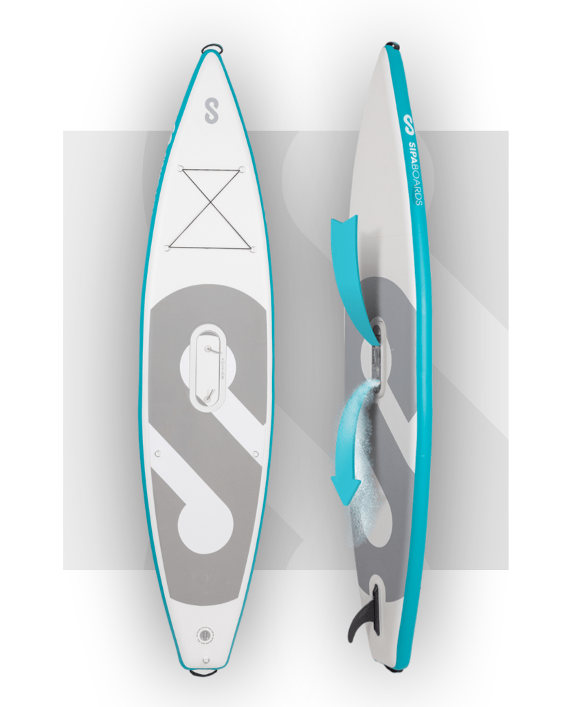 Sipaboards Tourer Drive Self-Inflating SUP 12'