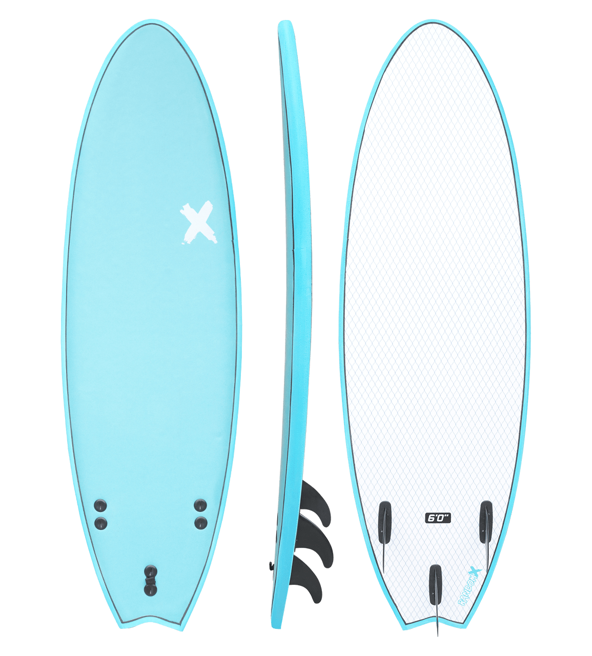 Random X Swallow Foam Surfboard 6' surf Coastline International