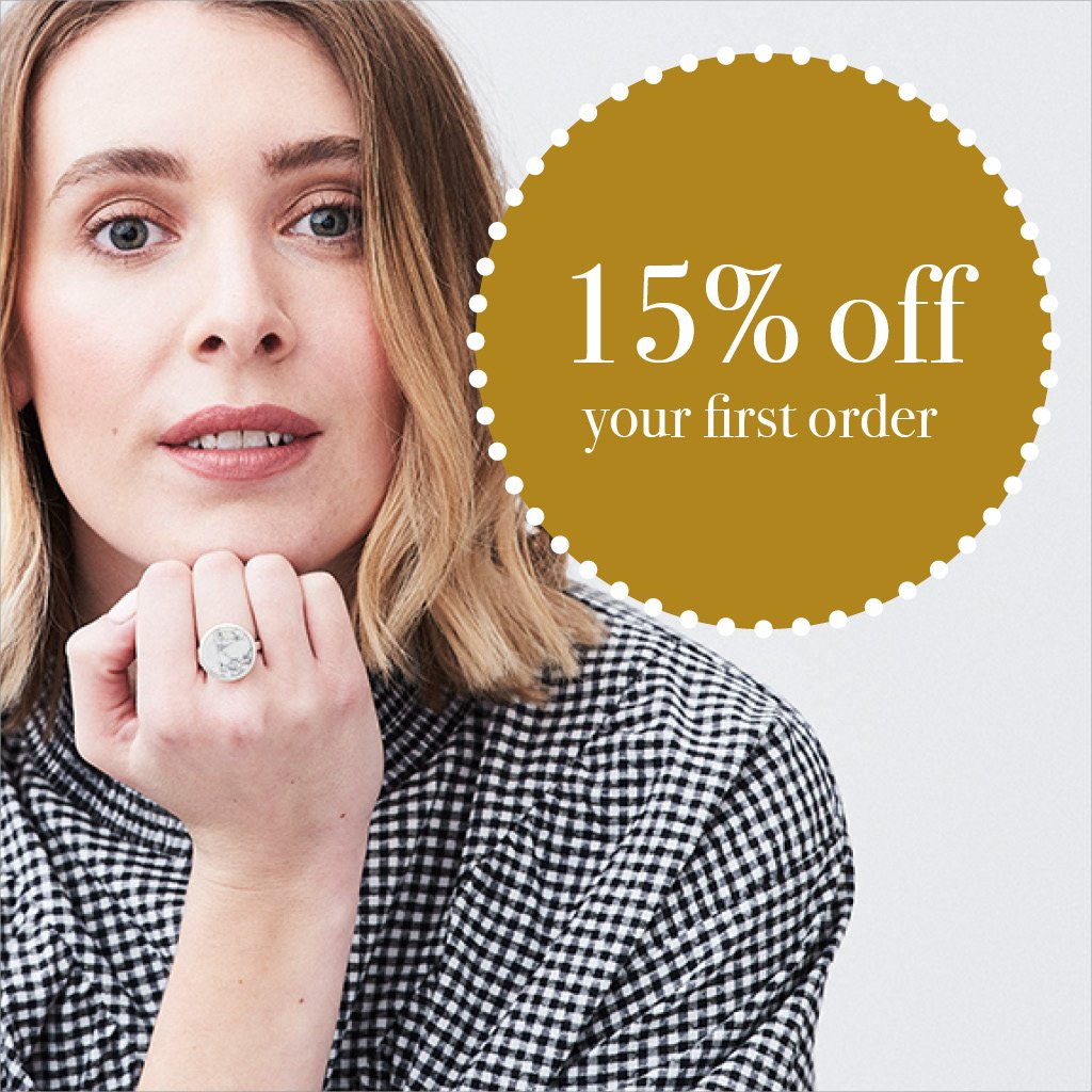 15% off your first order with SVP Jewellery