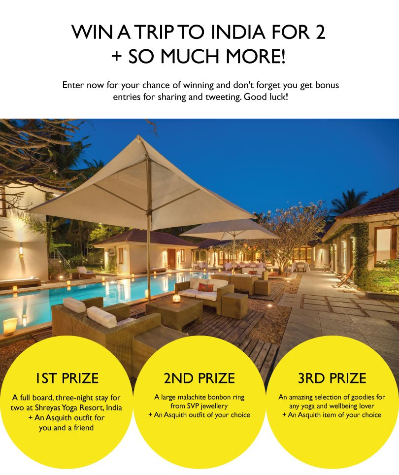 Win a trip to India with Asquith London