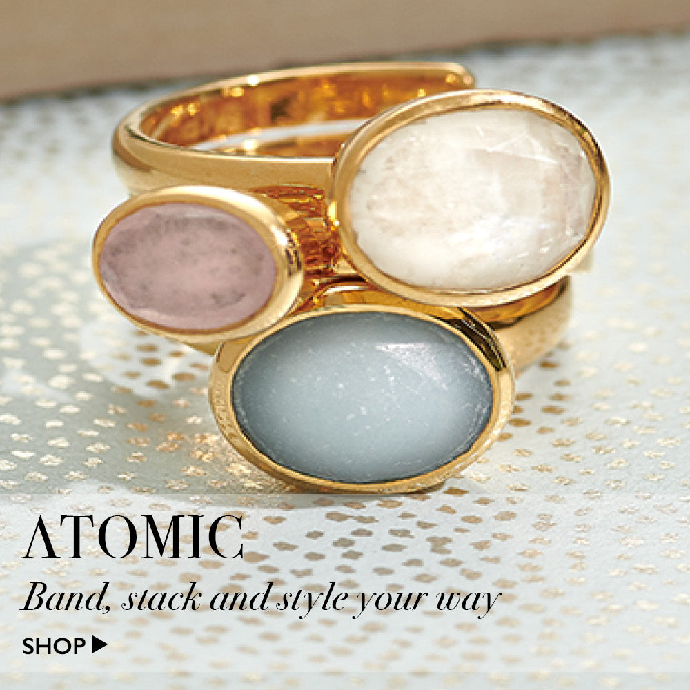 Atomic. Band, stack and style our adjustable rings your way