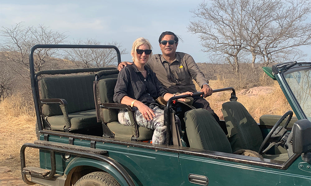 Bhushan Sethi and Sarah Parham SVP Jewellery at Ranthambhore
