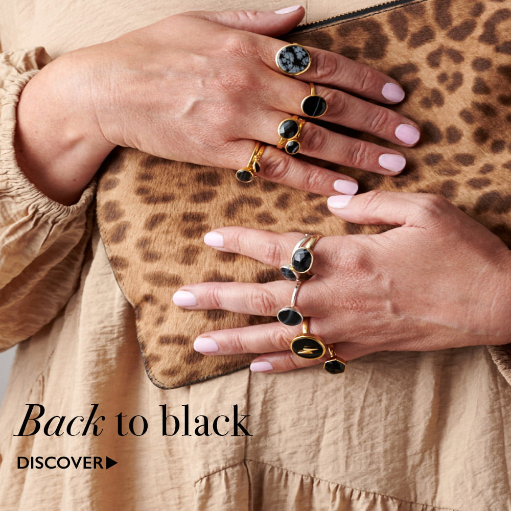 Discover black gemstone adjustable rings at SVP Jewellery