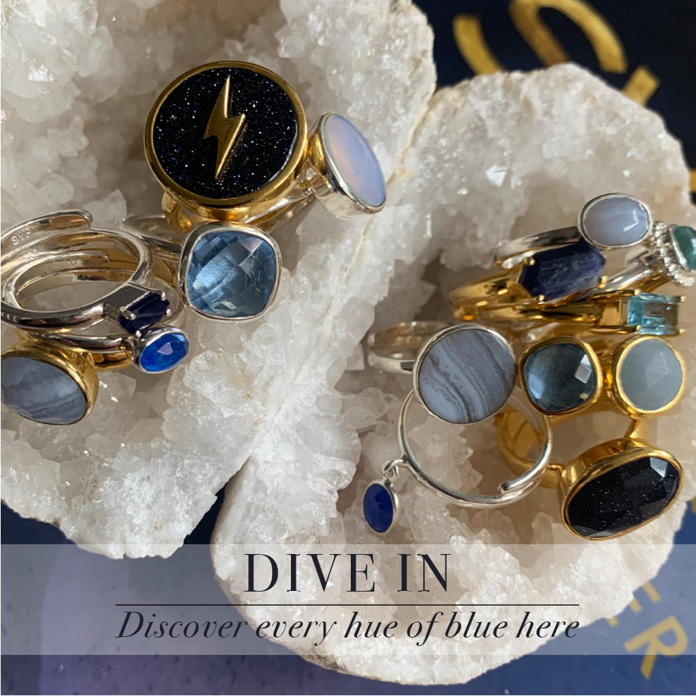 Dive in. Discover every hue of blue here at SVP Jewellery