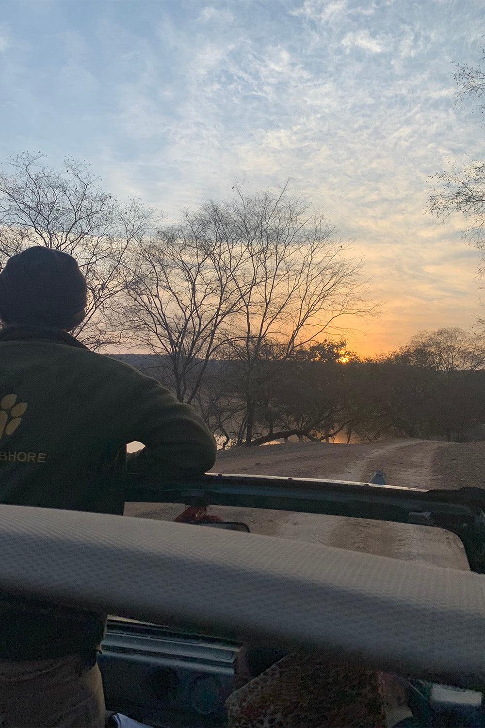 Early Morning with guide at Rathambhore