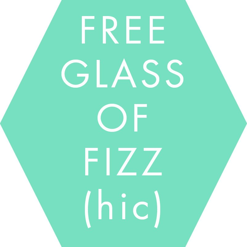 Free glass of fizz at the SV{P Pop up Sale