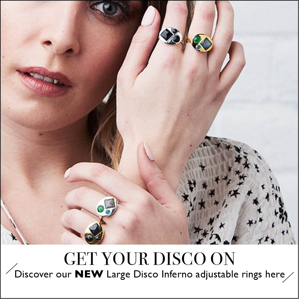 Get Your Disco On. Discover our NEW Large Disco Inferno adjustable rings here