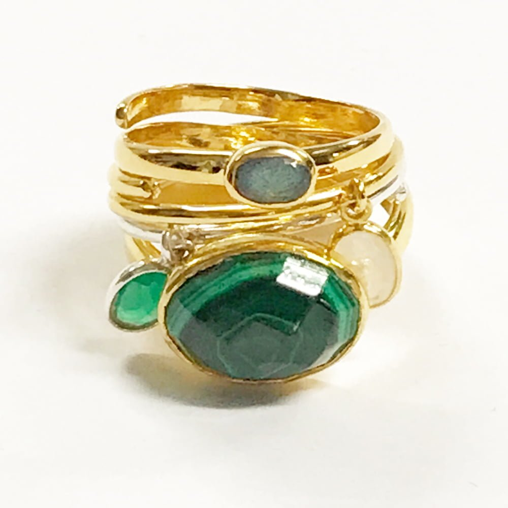 Green adjustable rings SVP sale