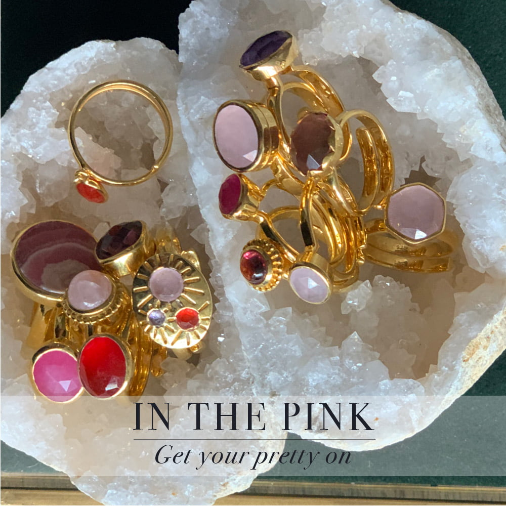 In the pink. Get your pretty on with SVP adjustable rings
