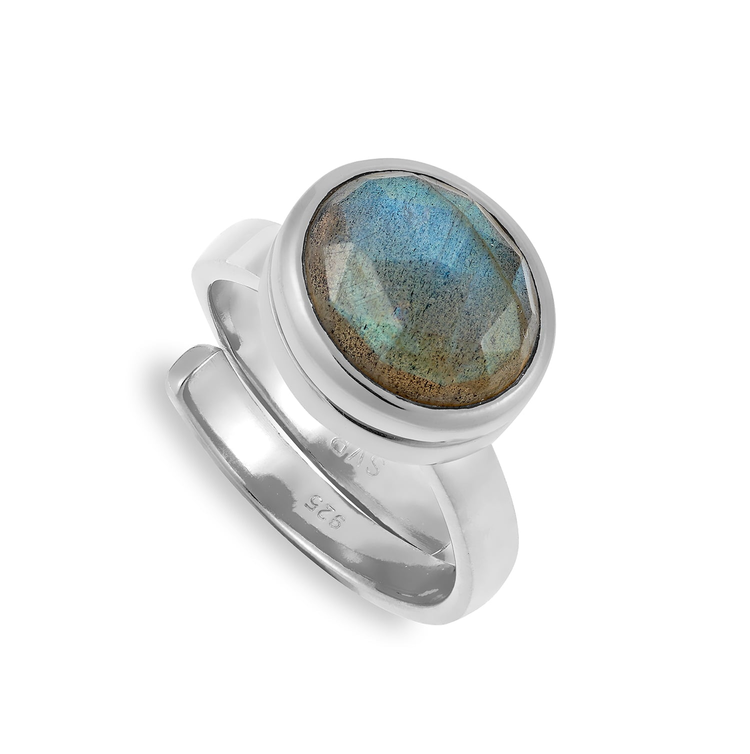 LLR02LASS-Lucky-Locket-Labradorite-Sterling-Silver-Closed-SVP-Adjustable-Ring