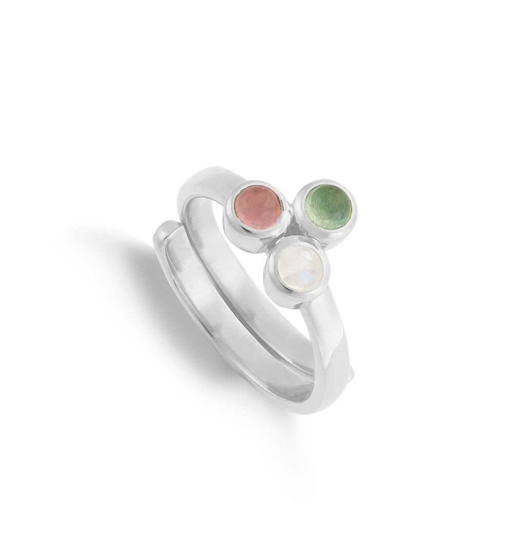 MHR01MQSS-Muthahood-Multi-Friendship-Rose-Quartz-Green-Chalcedony-Rainbow-Moonstone-Sterling-Silver-SVP-Adjustable-Ring