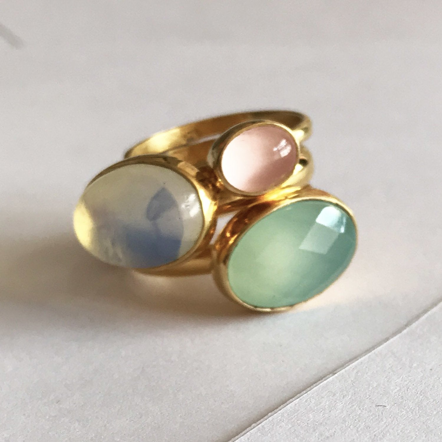 Pastel adjustable Bonbon rings by SVP Jewellery