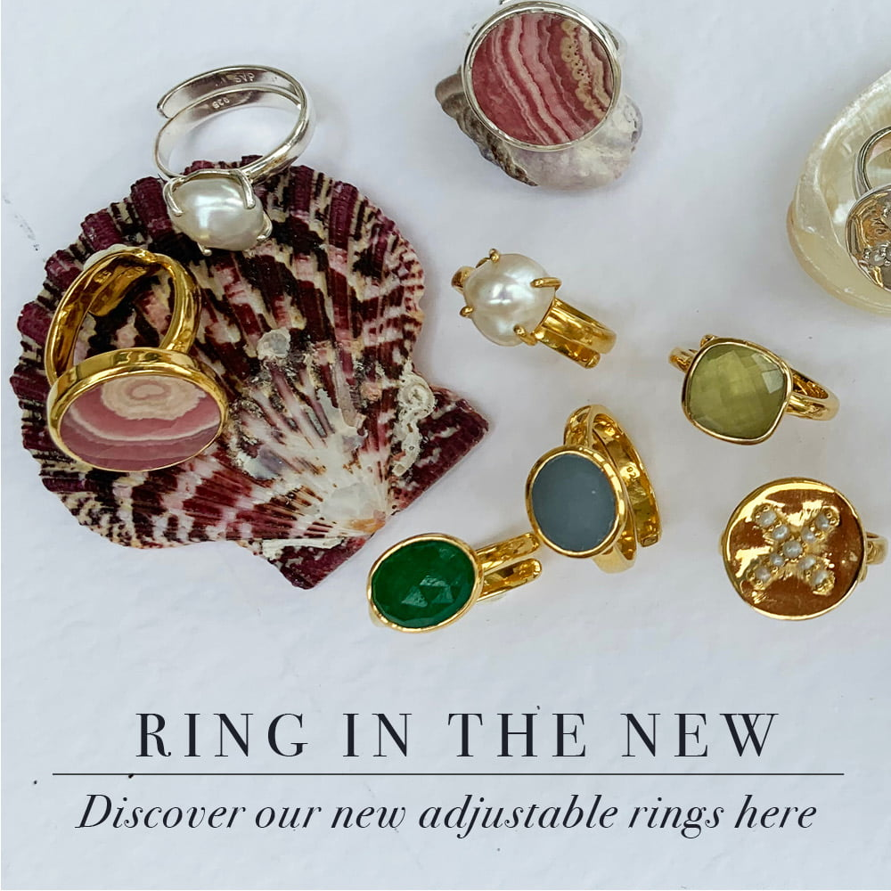 Ring in the new. Discover our new adjustable rings here