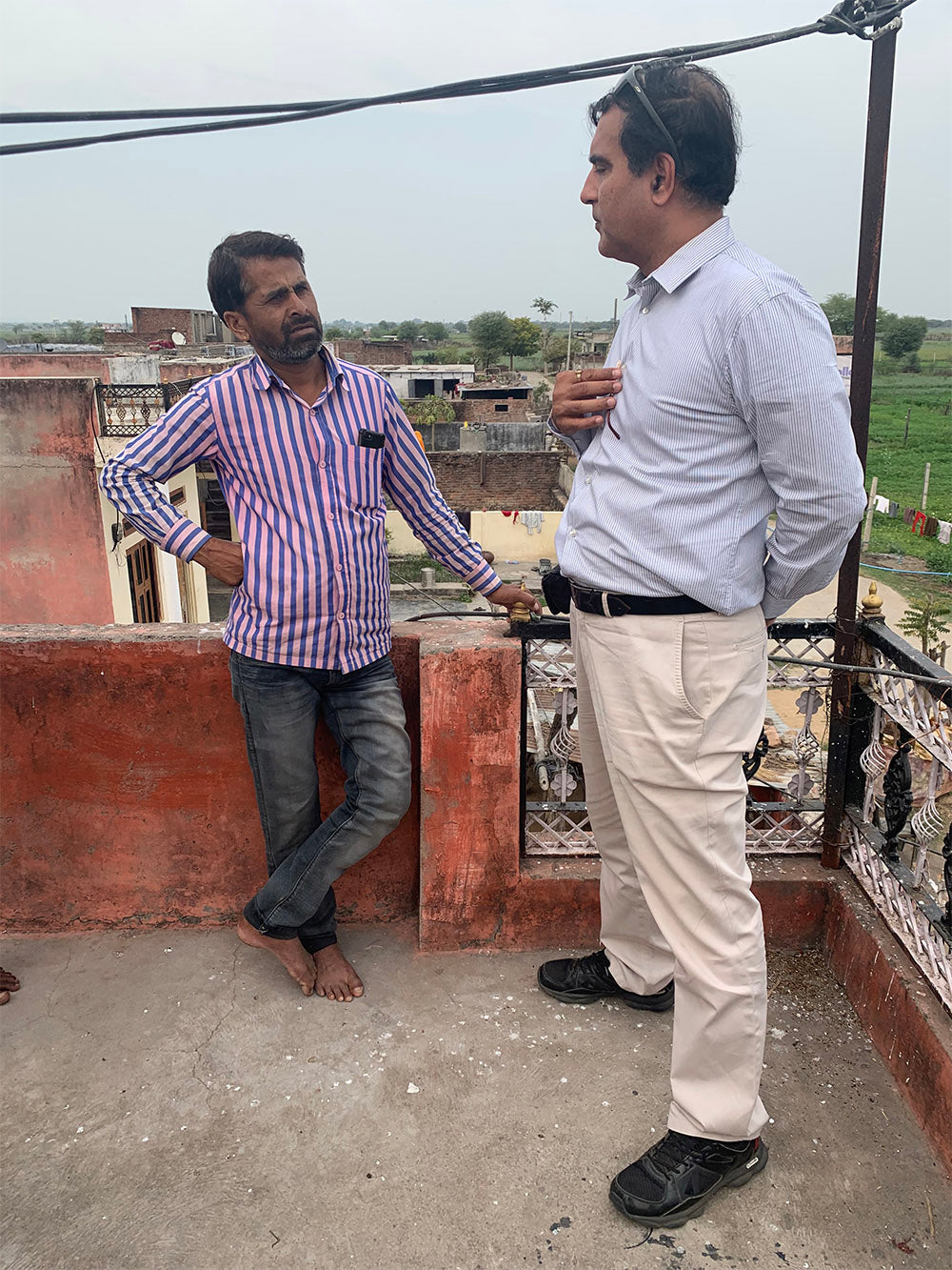 Roof top meeting to understand the communities that have moved