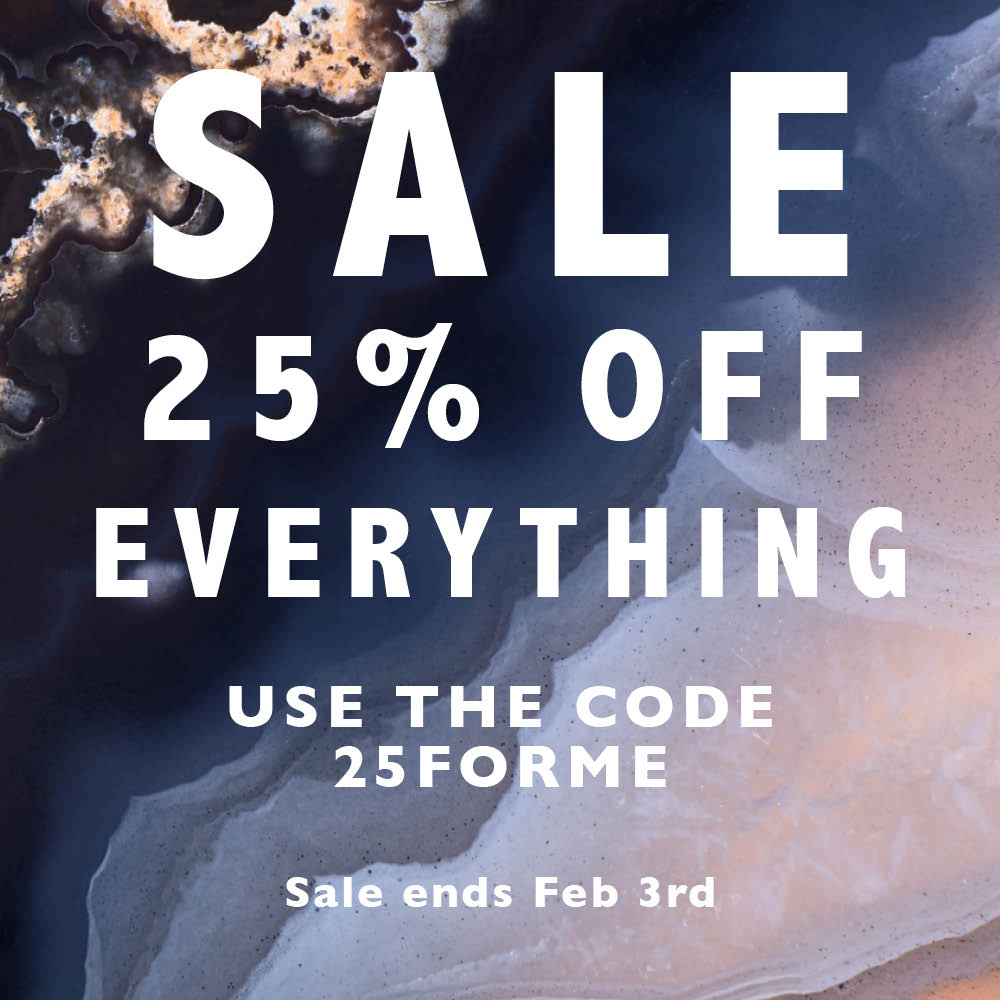 SVP Sale 25% off all adjustable rings until 3rd February. Use the code 25forme