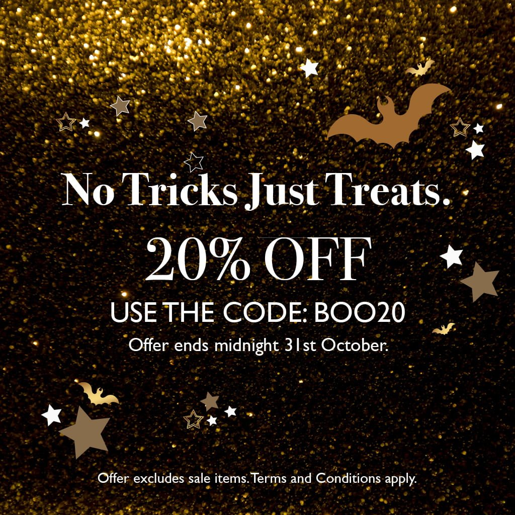 No Tricks Just Treats. 20% off all SVP adjustable rings until 31st October. Use the code BOO20