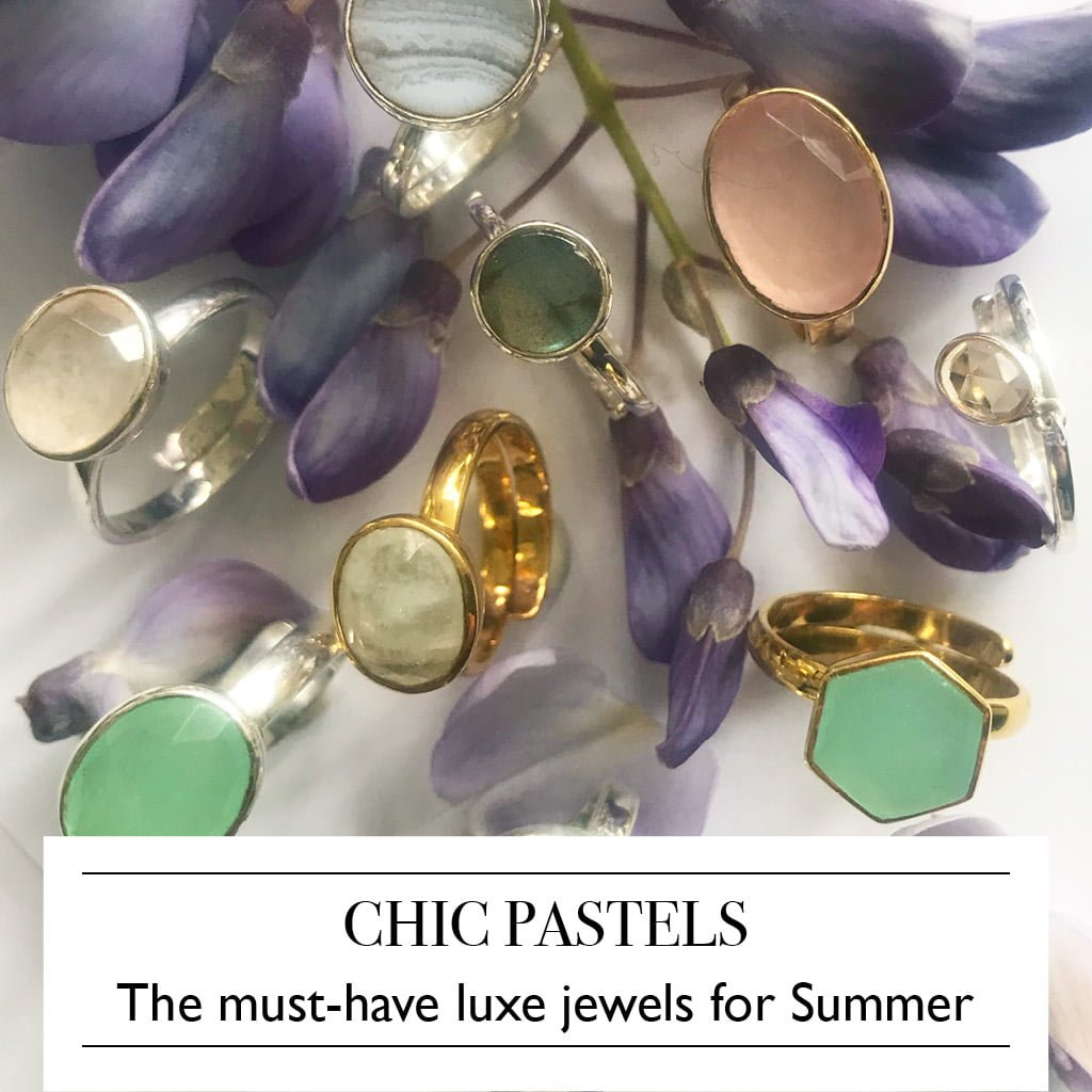 Chic Pastels - shop the must-have luxe jewels for summer by SVP Jewellery