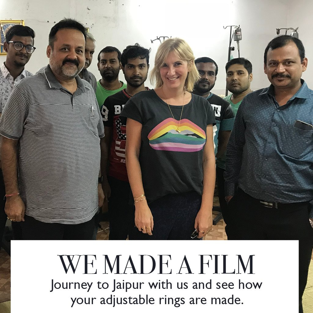 We made a film. Journey to Jaipur with us and see how your adjustable rings are made