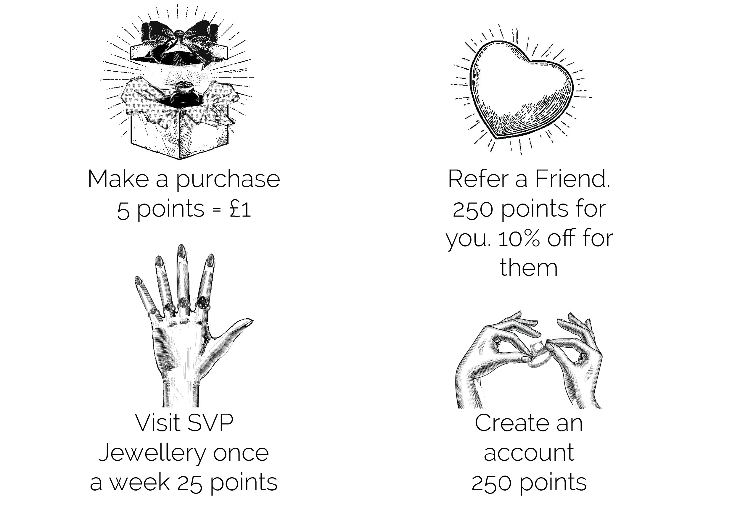 Earn rewards for buying adjustable rings at SVP Jewellery with our loyalty rewards programme