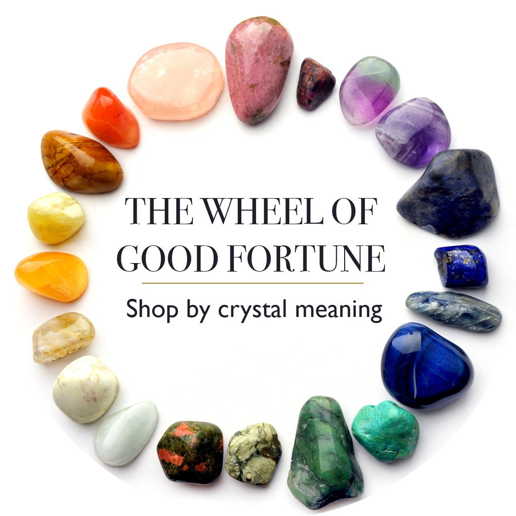 The Wheel of Good Fortune. Shop by Crystal Meaning