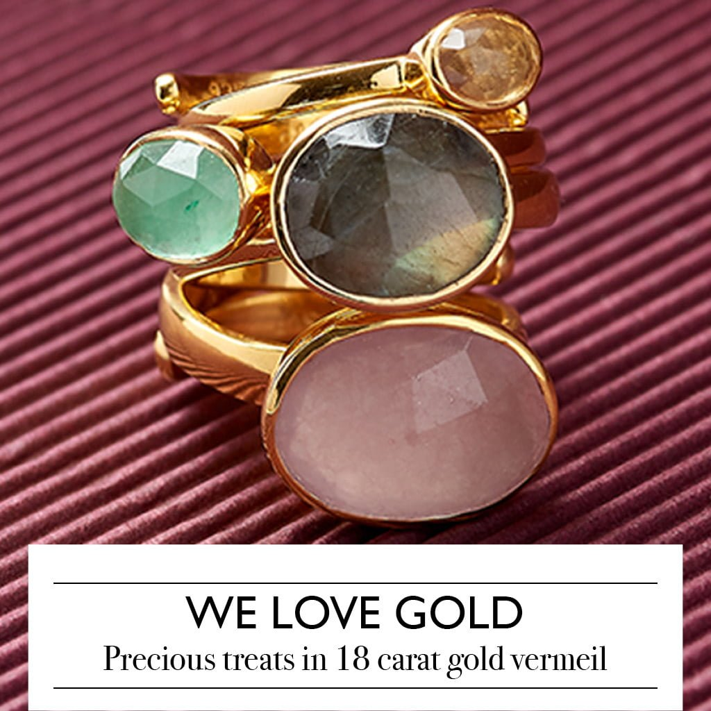 We love gold. Precious treats in 18 carat gold vermeil