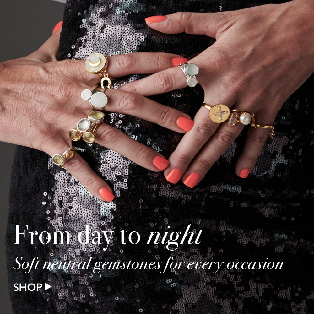 Shop neutral gemstone adjustable rings at SVP Jewellery