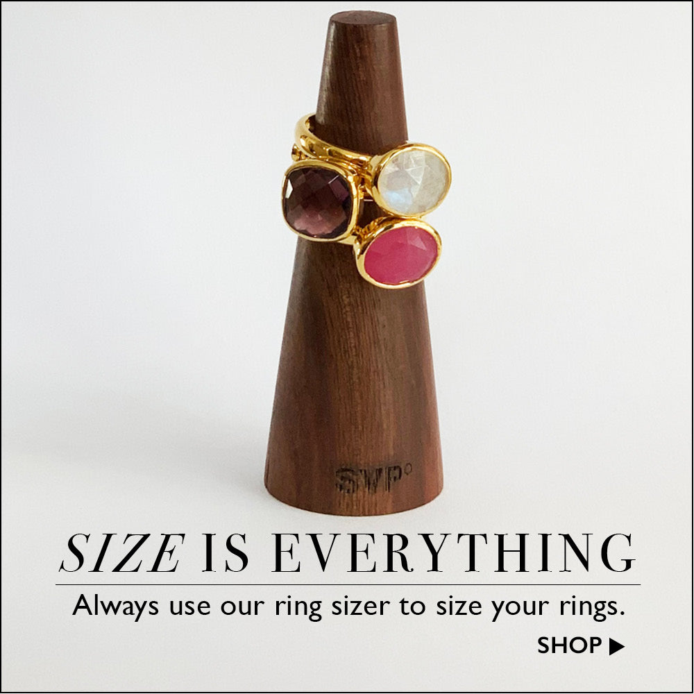 Size is everything. Always use a ring sizer to size your rings