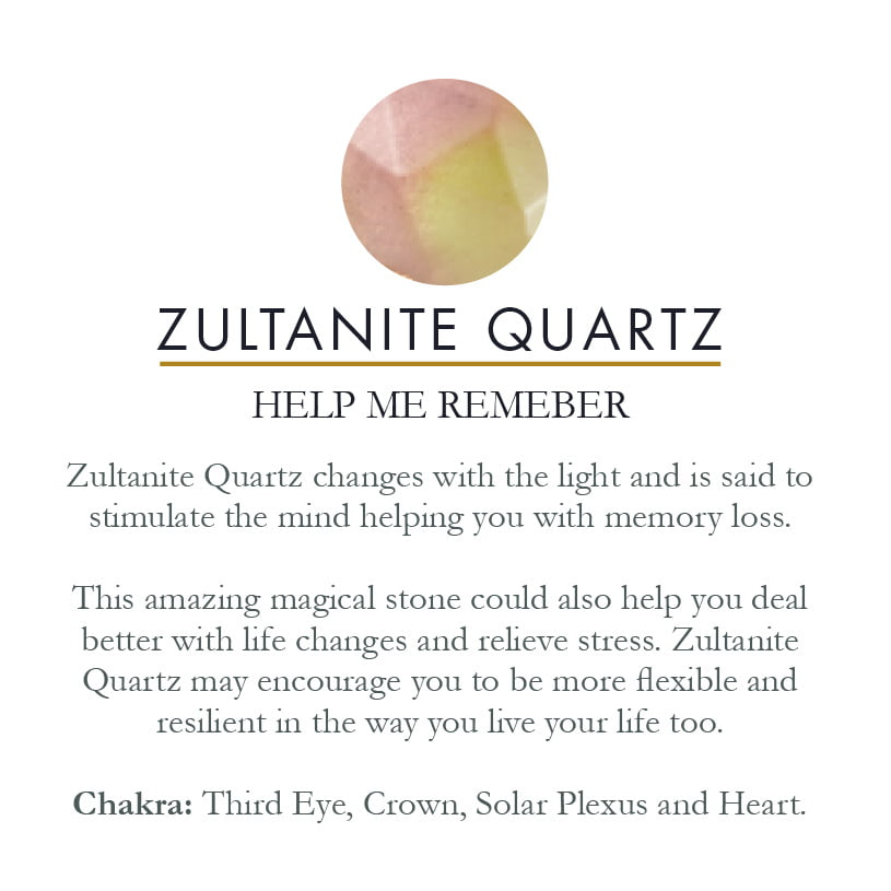 Zultanite Quartz gemstone meaning card