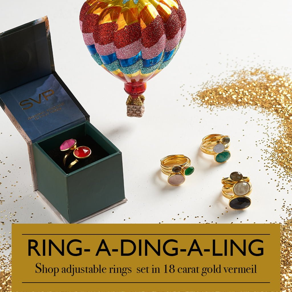 Ring-a-ding-a-ling. Shop adjustable rings set in 18 carat gold vermeil