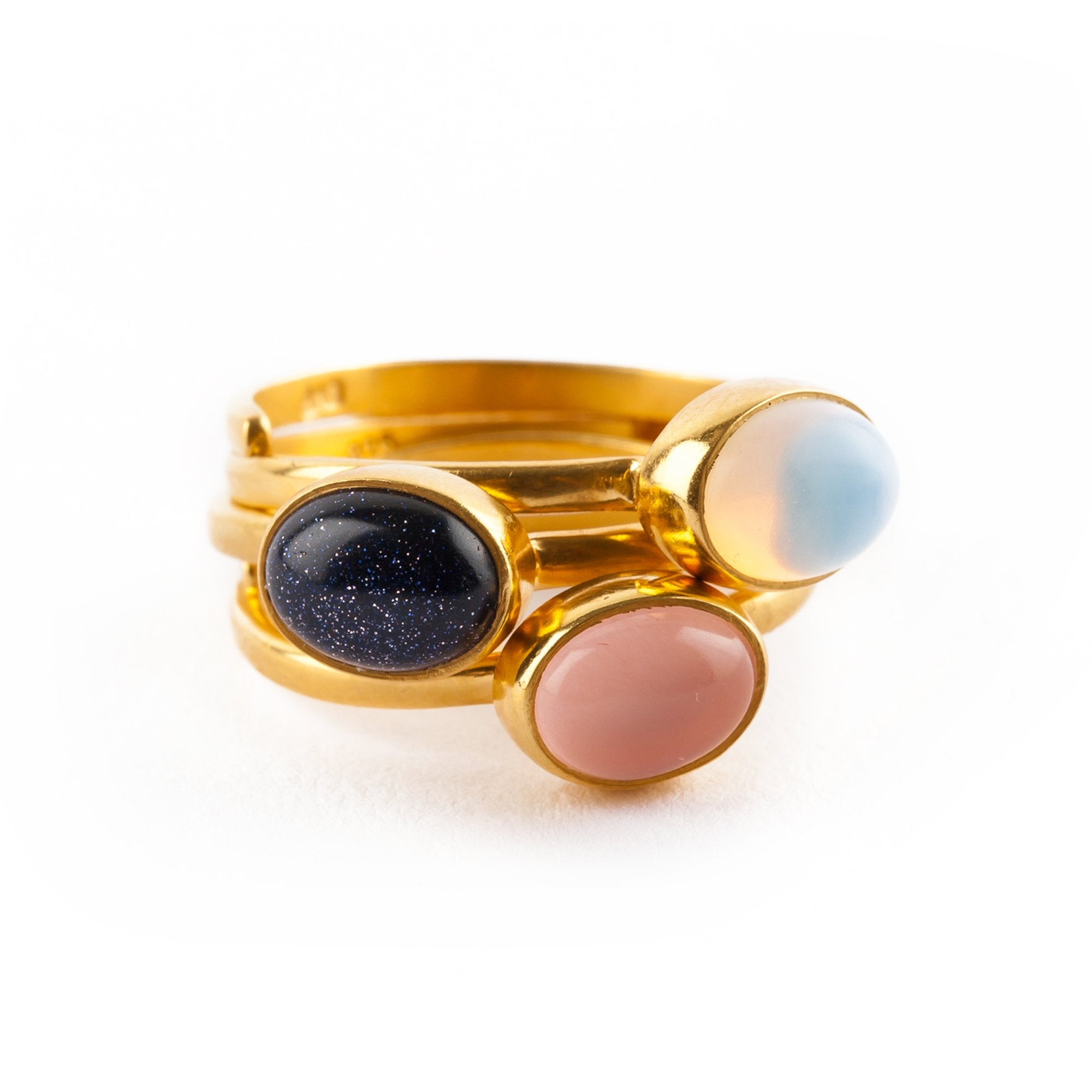 WOR02SUYV SVP Blue Sunstone Baby Out of this World Ring Gold Vermeil Blue