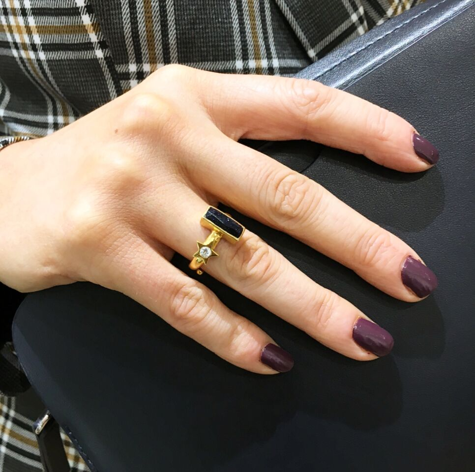 SVP Jewellery x Silverado Collaboration Lucky Star 18 carat gold vermeil Adjustable Ring