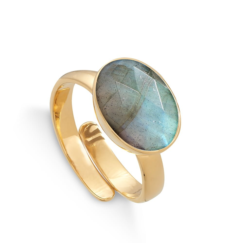 Atomic Maxi Labradorite Gold Ring