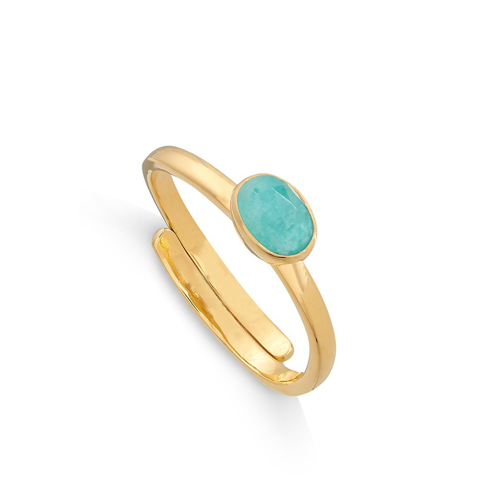Atomic Micro Amazonite Gold Ring